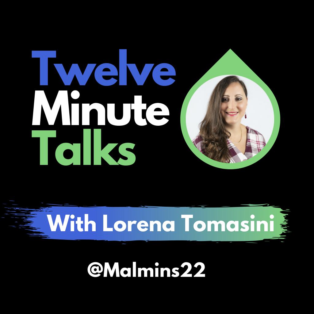 Twelve Minute Talks Art Logo
